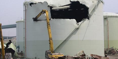 ナフサタンク解体工事