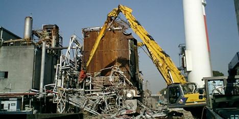 ボイラ付帯設備解体工事